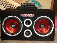 I have 2 10's with the amp, excellent stereo. Its 2