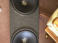 I am selling my 2 12 inch Polk Audio subs with a Polk