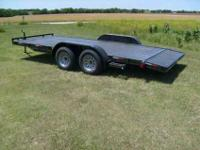 Brand new, 7,000 lbs.G.V.W. 2012 car trailer, 18 foot