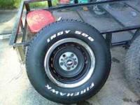 2 15X8 CHEVY TRUCK RALLEYS WITH 255-70-15 FIRESTONE