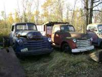 2-1940's trucks $750.00 each or will sell parts. Call