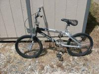 "2 20"" BMX Bikes for sale. Excellent condition.  Silver"