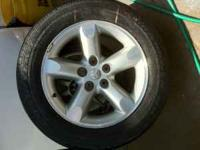 Two) Twenty inch Dodge Wheels and Tires 5 lug 100$ call