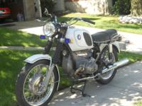 This is a one owner Bmw R75 with 4,200 miles from new,
