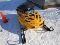 I have a year 2000 Skidoo MXZ600 snowmobile for sale.