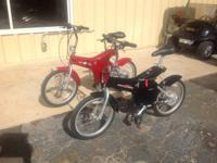 2 2001 FOLDING  E BIKES FOR SALE OR TRADE WE TOOK THESE