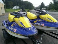 Up for auction are two (2) three person 2006 Seadoo jet
