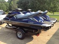 Pair of 2013 Yamaha FX Cruiser SHO WaveRunners with