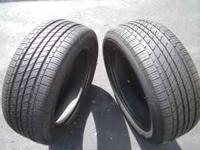 These 2 tires are in good condition with plenty of