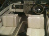 17'arrowglass scorpion ski boat,vinyl seats in