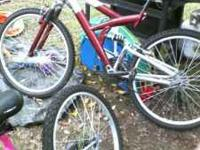 a mens and female's bikes are for sale they have been