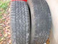 I have two Goodyear tires 265 70 r17 tires 40.00 for