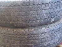 FOR SALE IS 2 265 -75-15 TIRES Ameritrac TR General