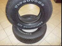 2 285/70/17 Firestone tires tires will pass inspection,