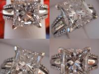 I am selling this brand new 2.01CT Princess Cut Diamond