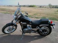 5,200mis Black and chrome comes with windshield new