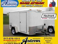 2011 HAULMARK TST6X10DS2 REAR DOUBLE DOORS, White, 2011
