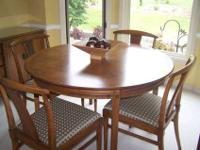 Beautiful Pecan Formal Dining Room set with Burled