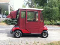 2004 Model G22A Red Electric Yamaha Golf Cart - Like
