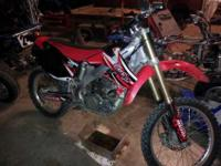 This is a crf 250r that's in terrific condition and