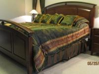 This is a solid wood (birch) bedroom suite for sale by