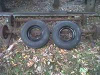 2 4500lb trailer axles with 2 wheels,in great