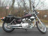 2009 YAMAHA V STAR 250, Black Cherry,