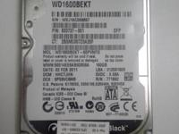 "USED 2.5"" SATA 160GB HARD DRIVE FOR LAPTOP. Western"