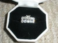 Beautiful Diamond Engagement Ring 1.5 tw White Gold and