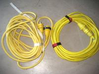 Two 50 foot 30 AMP power marine cords in great
