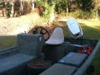 17' River Ox boat with galvanized trailer and 40