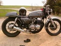 Here is my custom 1977 Honda CB750! The gas tank is off