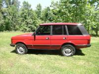 1988 Land Rover Range Rover 63,754 miles. Red with Grey