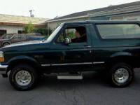 1995 Ford Bronco - Hunter Green - ~175k miles. Kelly