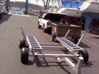 This is a custom built beach cart that allows you to