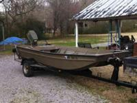 1983 aluma craft 15ft. aluminum boat. It has a 55 horse