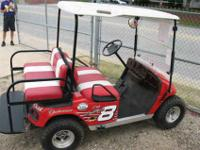 This Golf Cart is a Custom Made Dale Earnhardt EZ GO!