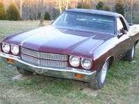 1970 Chevelle el Camino. A/C power steering,tilt, 400