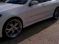 set of 4 22 inch asanti 3pc rims with tires, all crome,