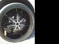 26 INCH STARR 777B RIMS AND TIRES FOR SALE WITH CHROME