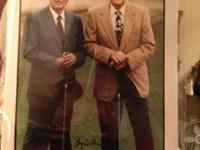 A piece of history captured by 2 golf legends! Hand