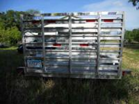 2002 Feather Lite Motorcycle Trailer, six feet 6ins