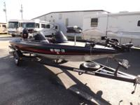 THIS IS A 1992 STRATOS 285 PRO XL BASS BOAT. THIS BOAT