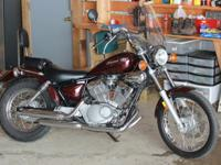 I am selling my 2008 Yamaha V-star 250 so that I can