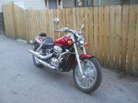 Like new Honda VT 750, bike has 330 miles. Bought new