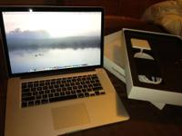 "Selling my MacBook Pro 15"" retina display. This MacBook"