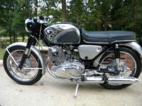 fully restored late 1966 Honda Superhawk. This is an