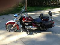 This Suzuki Boulevard is a 2008 800cc deluxe touring