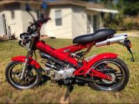 125 cc - 8 hp - 55 mph - 85 mpg!! - 220 lbs - 1220