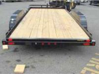 New 7x16 Trax Car trailer 83 wide on the deck x sixteen